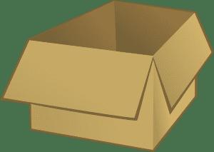 Caixa de papelão grande para mudança