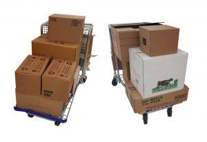 Carrinho para transporte de caixas