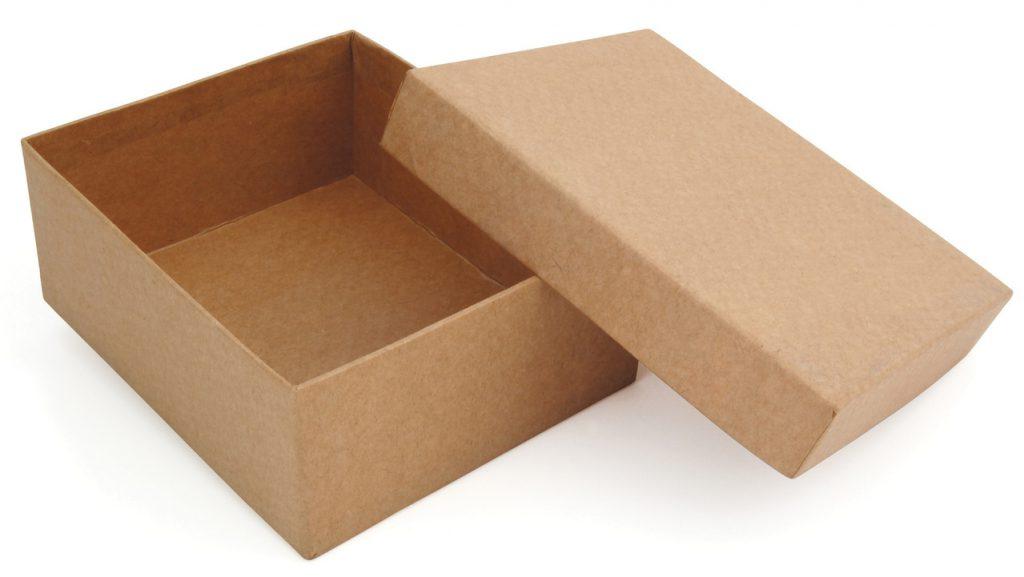 Caixa de papelão pequena_com tampa